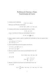 Problemas sobre Transformadas de Fourier