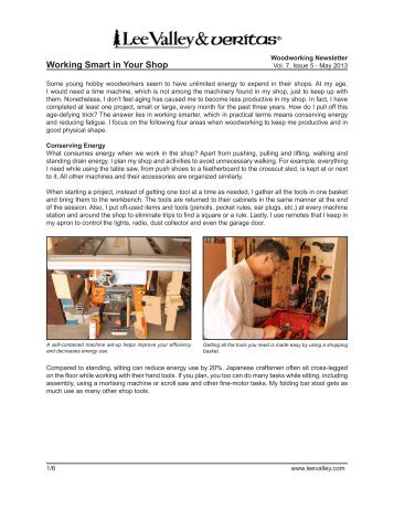 Print Article - Lee Valley Tools