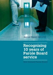 Recognising 10 years of Parole Board service - New Zealand ...