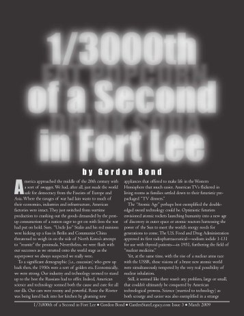 1/3000th of a Second in Fort Lee - Garden State Legacy