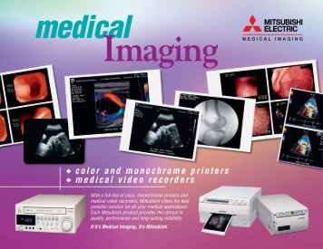 color and monochrome printers medical video recorders