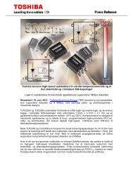 Toshiba lancerer high-speed optokoblere til ... - Toshiba Components