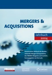 Bundesverband Mergers & Acquisitions, FINANCE ... - Klein & Coll.