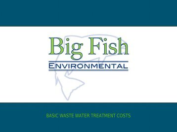 BASIC WASTE WATER TREATMENT COSTS