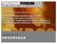 Service Oriented Architecture - TekZone
