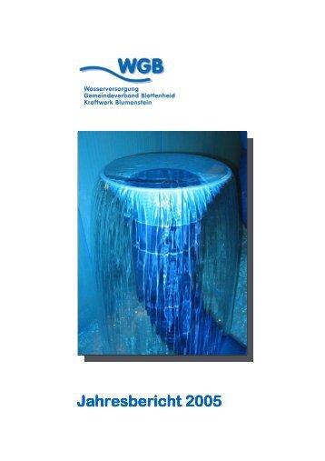 WGB Jahresbericht 2005 - Wasserversorgung Gemeindeverband ...