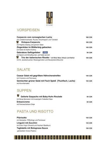 vorspeisen salate suppen pasta und risotto - Clarion Congress Hotel ...