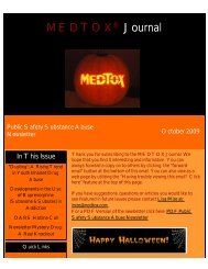 Public Safety Sunstance Abuse Newsletter by MEDTOX October 2009