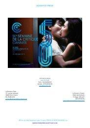 DP Semaine 2011- version française - Semaine de la Critique