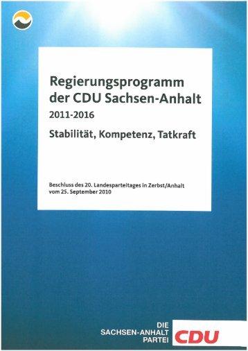 Regierungsprogramm 2011-2016 lang