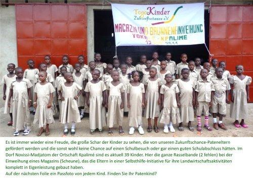 per Klick mehr mit 2 Folien - Togo-Kinder Zukunftschance eV