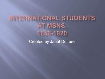 International Students at MSNS, 1856-1920 - Blogs @ Millersville ...