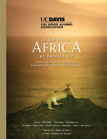 Africa by Private Jet.pdf - Cal Aggie Alumni Association - University ...