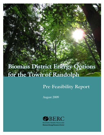 Biomass District Energy Options for the Town of Randolph