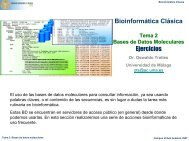 Bioinformática Clásica Ejercicios - BioScripts