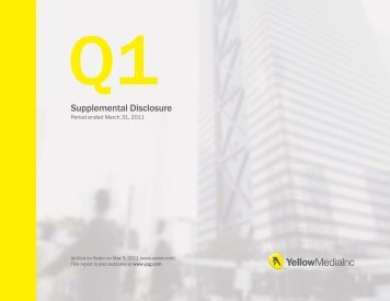 Supplemental Disclosure - Yellow Pages Group