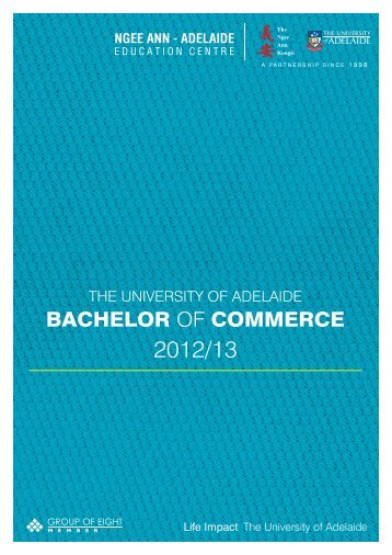 bachelor of commerce - Ngee Ann-Adelaide Education Centre (NAA)