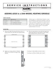Installing Legs on Model 2000 Griddle - Keating of Chicago