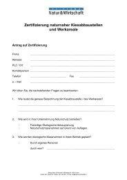 Antragsformular für Kieswerke - Natur & Wirtschaft