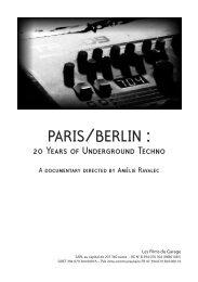 MILTON BRADLEY - Paris / Berlin : 20 years of Underground Techno