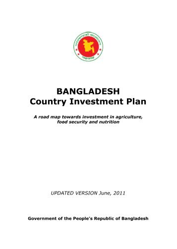 Bangladesh Country Investment Plan - Feed the Future