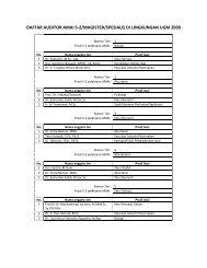 daftar auditor amai s-2/magister/spesialis di lingkungan ugm 2009