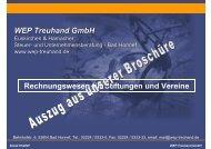 WEP Treuhand GmbH Rechnungswesen für Stiftungen und Vereine
