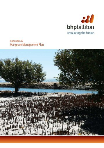Appendix A2 Mangrove Management Plan - BHP Billiton