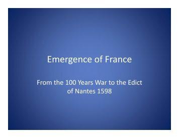 Emergence of France [Compatibility Mode] (pdf)