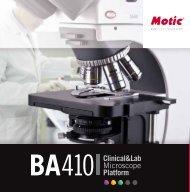 Produktbroschüre zum BA410 als PDF-Datei - Mikroskopie.de