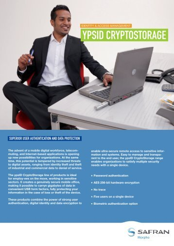 ypsID CryptoStorage brochure - Morpho