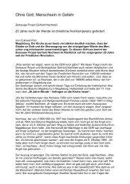 20 Jahre Wende - Katholische Akademie des Bistums Magdeburg