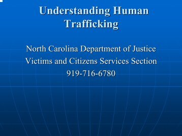 Understanding Human Trafficking - RTPnet