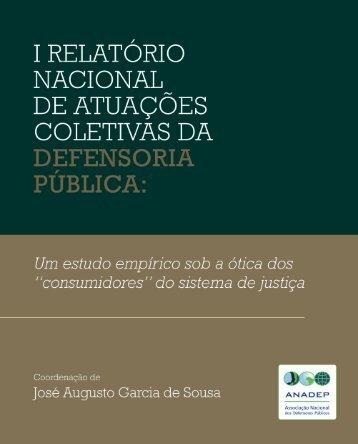 I Relatório Nacional de Atuações Coletivas da ... - Forum Justiça