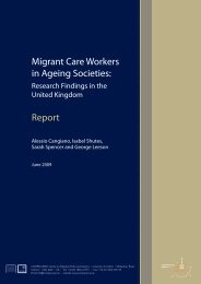 'Migrant Care Workers in Ageing Societies' - COMPAS - University of ...