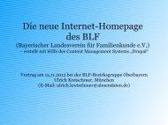 neue BLF-Homepage - Bayerischer Landesverein für ...
