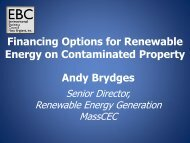 Andy Brydges Financing Options for Renewable Energy on ...