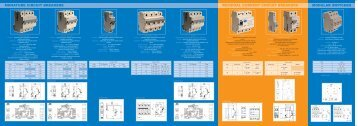 miniature circuit breakers residual current circuit breakers modular ...