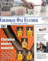 March 15, 2012 - The Cherokee One Feather