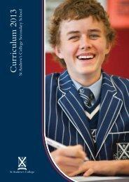 Curriculum 2013 - St Andrew's College