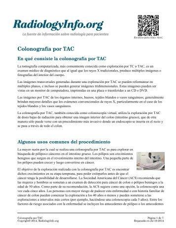 Radiografía del tracto gastrointestinal (GI) inferior - RadiologyInfo