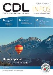 Bulletin no. 4/11 – Novembre 2011 - Cercle Démocratique Lausanne