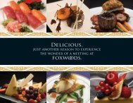 Full Catering Menu - Foxwoods Resort Casino
