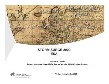 STORM SURGE 2009 ESA - Data User Element