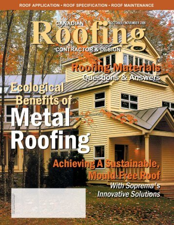 Canadian Roofing Contractor and Design - Fall 2006 - Perks ...