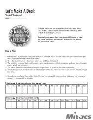 Student Worksheet - Mitacs