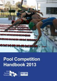 Pool Competition Handbook 2013 - Life Saving Victoria