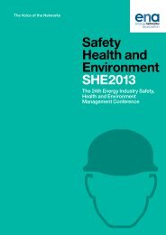 Safety Health and Environment SHE2013 - Energy Networks ...