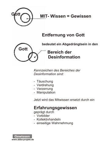 MIT- Wissen = Gewissen Gott Entfernung von Gott ... - Seminar-r.de