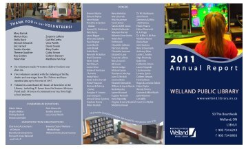 Annual Report - Welland Public Library